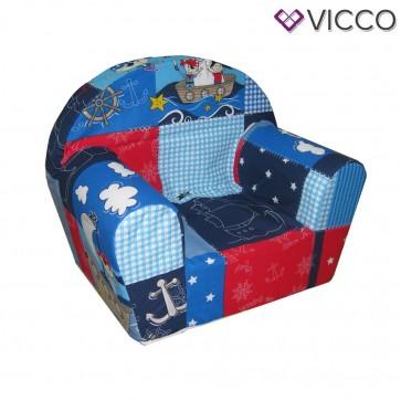 Vicco Kindersessel Kindersofa Minisofa Kindermöbel Sessel Sofa Schaumstoff Pirat