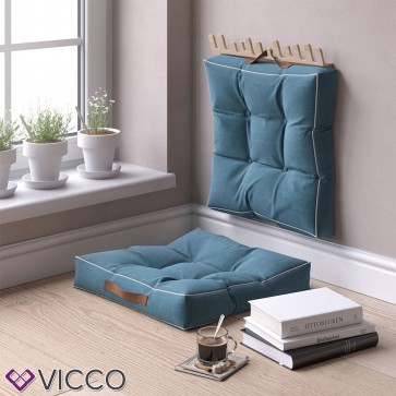 2er Set Sitzkissen Blau