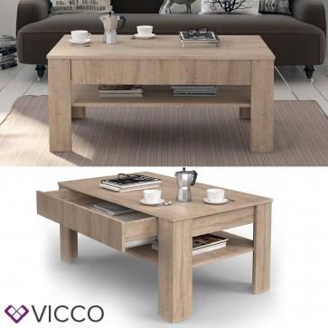 VICCO Couchtisch Milan 110 x 65 cm in Sonoma Eiche