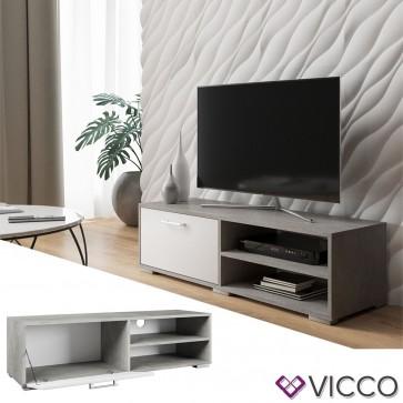 VICCO Lowboard KAMILLA Weiß Beton