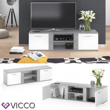 Vicco TV Lowboard Novelli weiß/beton