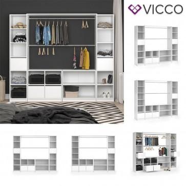 VICCO Kleiderschrank XXL VISIT offen in weiß