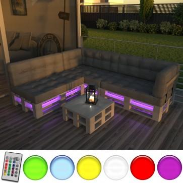 LED-Streifen für Palettenmöbel