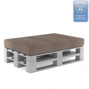 Palettenkissen Set Sitzkissen+ Paletten Taupe-Grau