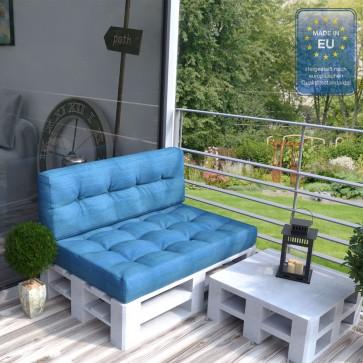 Palettenkissen Set Sitz+ Rückenkissen+ Paletten Blau