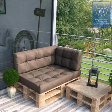 Palettenkissen Set Sitz+ Rücken+Seitenkissen+ Paletten Taupe