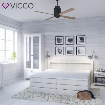 design boxspringbett mit bettkasten doppelbett ehebett wei beige led. Black Bedroom Furniture Sets. Home Design Ideas