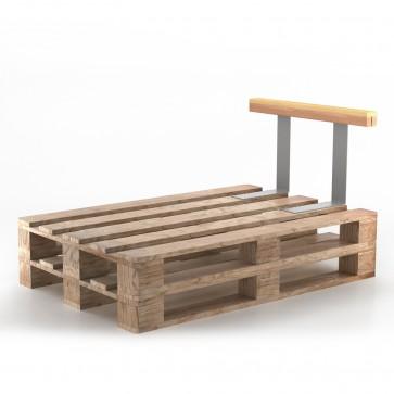 Holzlehne für Palettenkissen 70 cm Seitenlehne