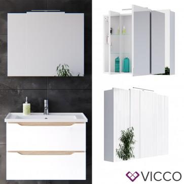VICCO LED Spiegelschrank EVEREST 80cm