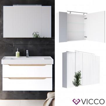 VICCO LED Spiegelschrank EVEREST 100cm
