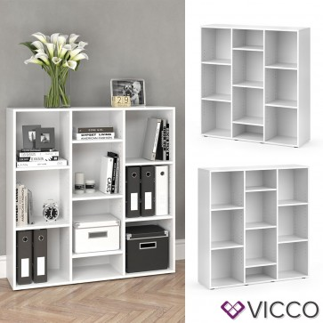 Vicco Raumteiler Lysander - 10 Fächer Regal Bücheregal Standregal Schrank Büro Office