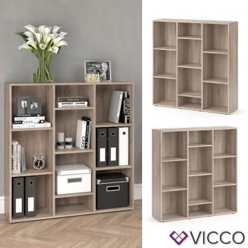 VICCO Raumteiler LYSANDER - 10 Fächer Regal Bücheregal Standregal Schrank Büro