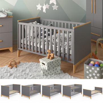VITALISPA Baby- und Kinderbett MALIA anthrazit
