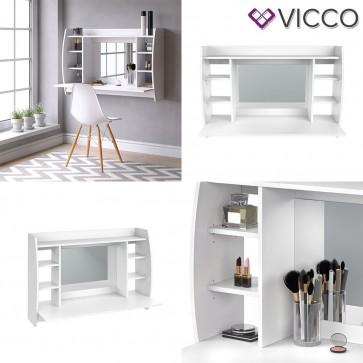 VICCO Wandschminktisch MAX Weiß - inklusive Spiegel