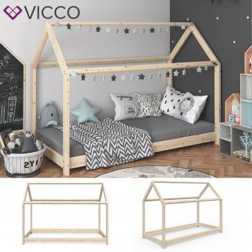 VICCO Hausbett WIKI 90x200 Unbehandelt