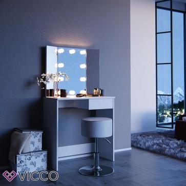 Vicco LED Schminktisch OLIVIA + Hocker