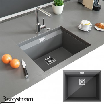 Bergström Granit Spüle Küchenspüle Einbauspüle 550x450mm