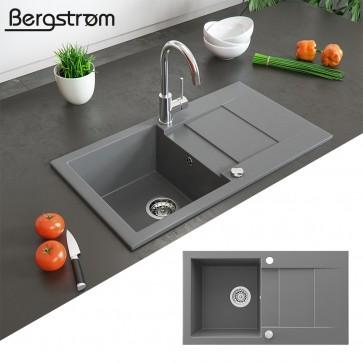 Bergström Granit Spüle Einbauspüle 430x750mm Grau