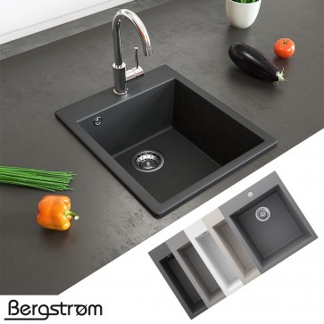 Bergström Granit Spüle Einbauspüle 425x500mm