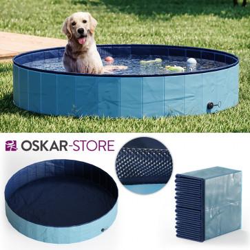 OSKAR Hundepool 160cm Schwimmbad für Hunde Planschbecken Swimmingpool Kinderpool