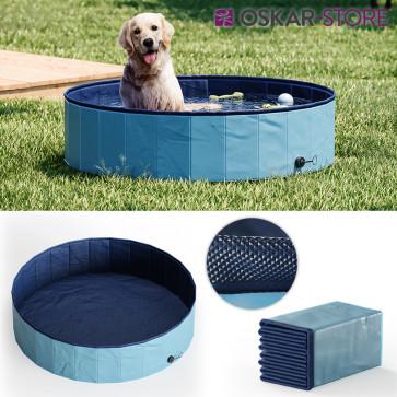 OSKAR Hundepool 120cm Schwimmbad für Hunde Planschbecken Swimmingpool Kinderpool