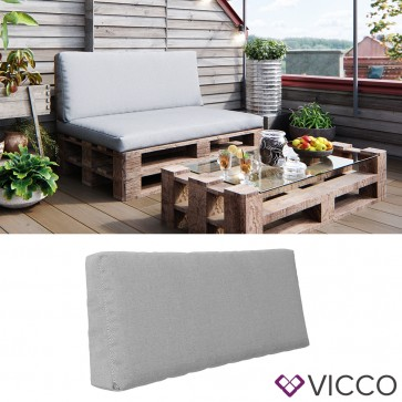 Vicco Palettenkissen Rückenkissen Grau
