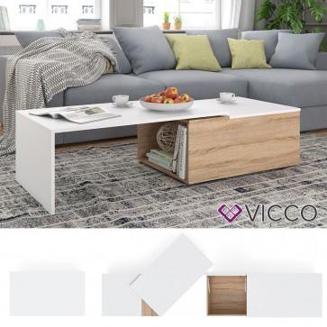 VICCO Couchtisch LEO Sonoma Weiß