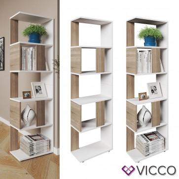 VICCO Raumteiler Raumtrenner Bücherregal Standregal Aktenregal Hochregal Aufbewahrung Regal Sonoma Eiche (klein)