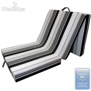 VitaliSpa® Faltmatratze Gästebett Schwarz/Weiß