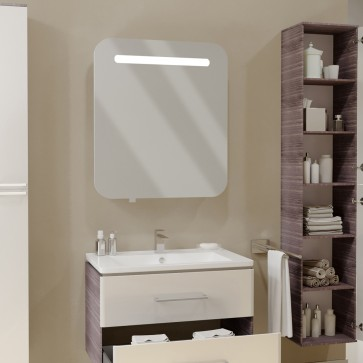 VICCO LED Spiegelschrank FALSTERBO 70 cm Weiß