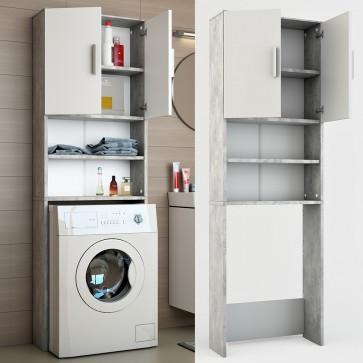Waschmaschinenschrank Badregal 190x60cm Grau Beton