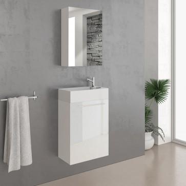 VICCO Badmöbel Set Waschplatz 45 cm weiß