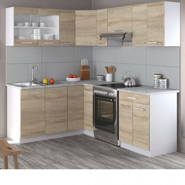 Rick Eck-Küche 210cm Sonoma Eiche R-Line