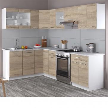 Eck-Küche 250cm Sonoma Eiche R-Line