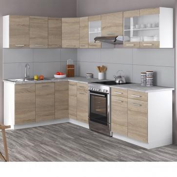 Eck-Küche 270cm Sonoma Eiche R-Line