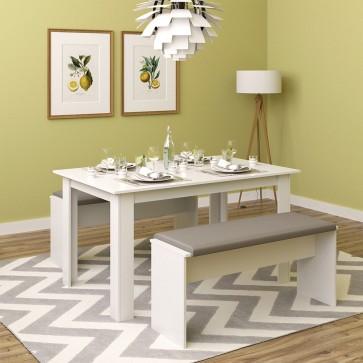 Tischgruppe Sentio Weiß