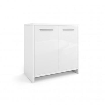 VICCO Waschbeckenunterschrank KIKO 60 cm Weiß Hochglanz