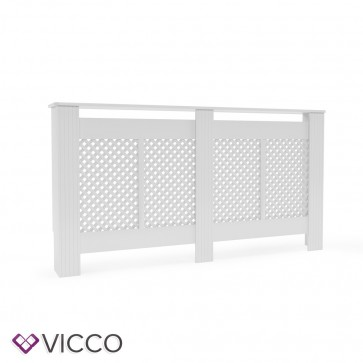 VICCO Heizkörperverkleidung Landhaus III 152 cm Weiß
