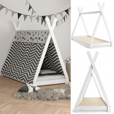 VITALISPA Hausbett TIPI 90x200cm Holz Weiß