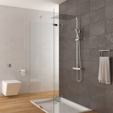 Duschsystem inkl. Thermostat + Duschkopf 40x40