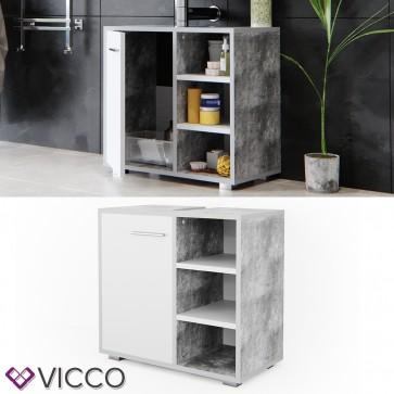 VICCO Waschtischunterschrank Perry weiß beton