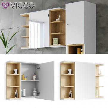 VICCO Spiegelschrank AQUIS Weiß