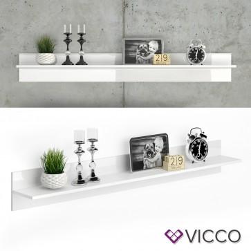 VICCO Wandregal Byanko Weiß hochglanz