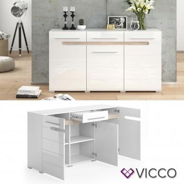 VICCO Sideboard BYANKO weiß hochglanz