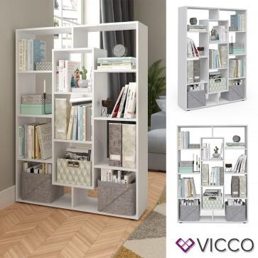 VICCO Raumteiler 11 Fächer Weiß