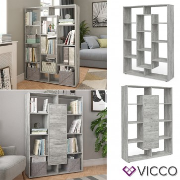 VICCO Raumteiler 11 Fächer Beton
