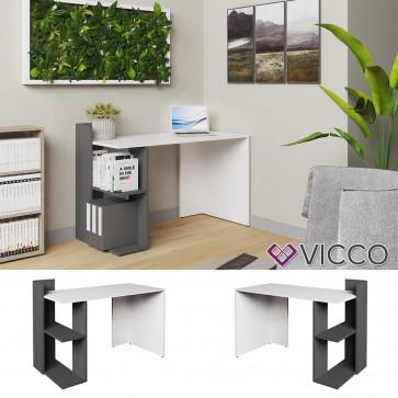 VICCO Schreibtisch THEO Weiß Anthrazit