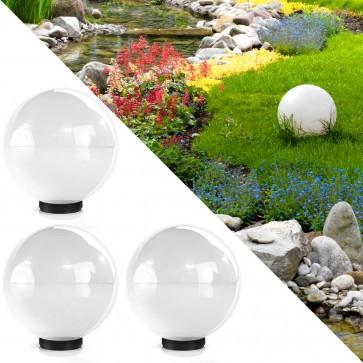 3er Set Kugelleuchte Gartenlampe Lichtkugel 40 cm