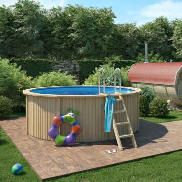 CLAAS Holzpool Pool mit Stahlwand inkl. Sandfilteranlage 360x120cm