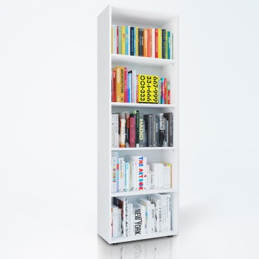 VICCO Bücherregal EASY 190 x 60 cm Weiß